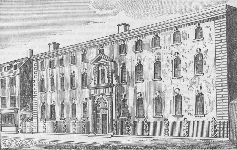 Associate Product THREADNEEDLE STREET. The old South Sea House c1880 antique print picture
