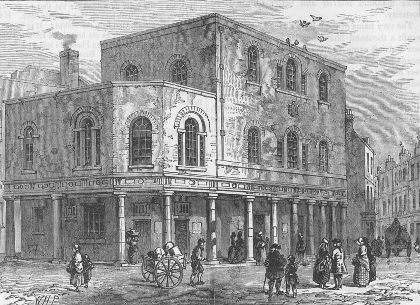 Associate Product EASTCHEAP. The weigh-House chapel. London c1880 old antique print picture
