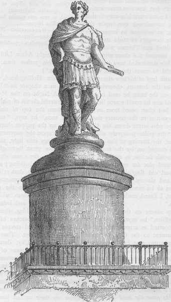 Associate Product THE MONUMENT. Wren's original design for the summit of the monument c1880