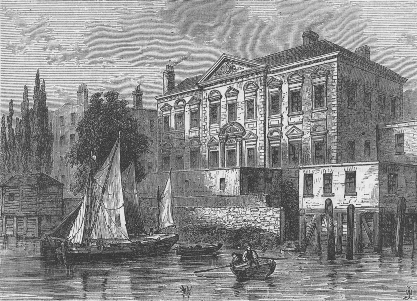 Associate Product CITY OF LONDON. The second Fishmongers' Hall c1880 old antique print picture