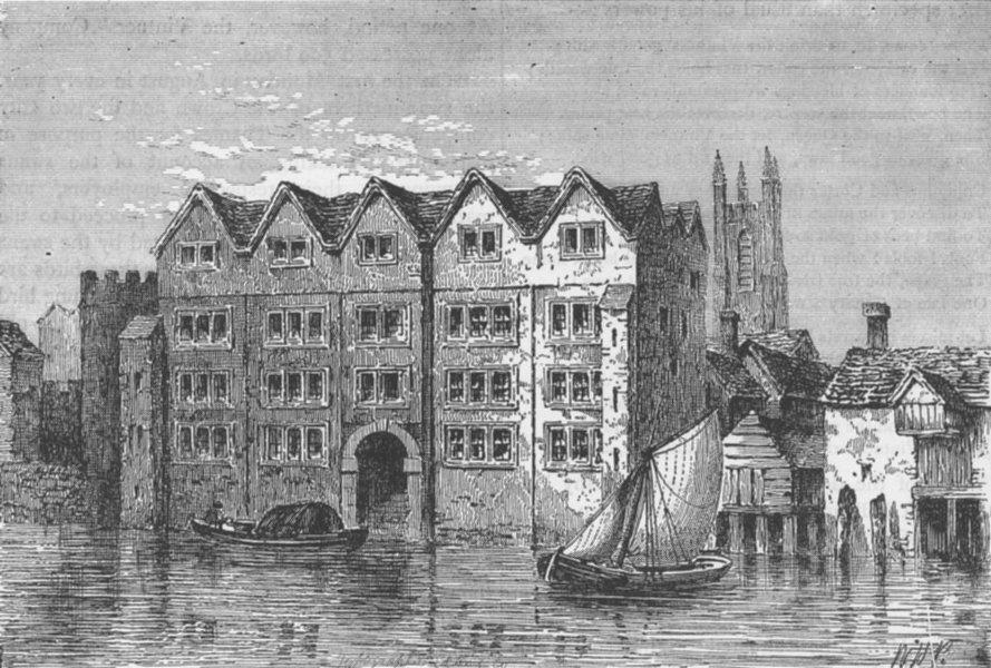 Associate Product UPPER THAMES STREET. Cold harbour. London c1880 antique print picture