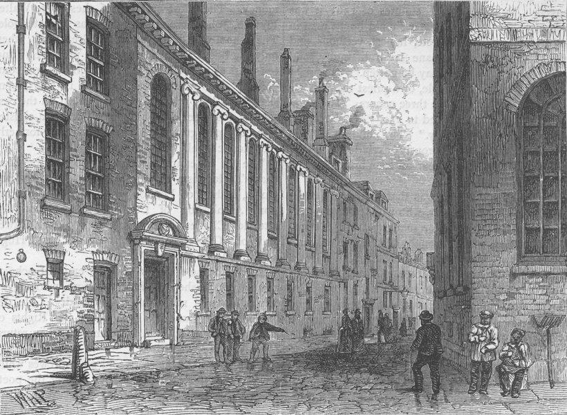 Associate Product UPPER THAMES STREET. The merchant Taylors' School, Suffolk Lane. London c1880