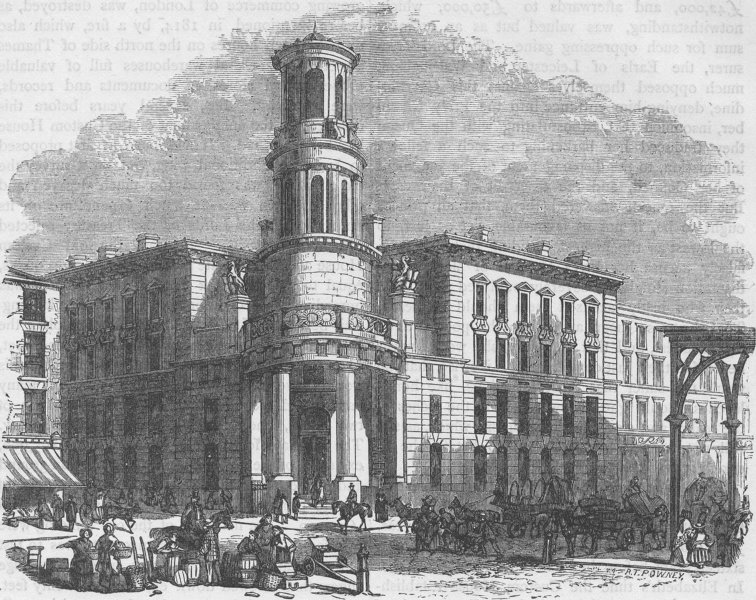 Associate Product LOWER THAMES STREET. The present Coal Exchange. London c1880 old antique print