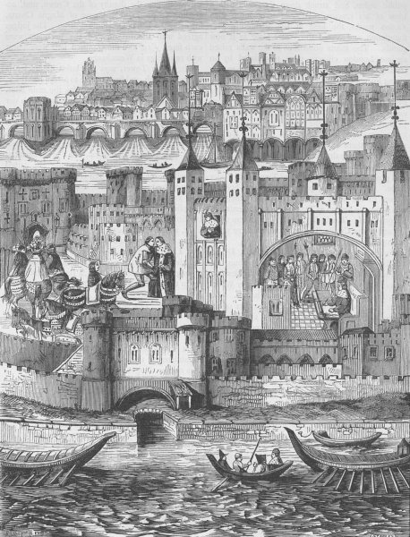 Associate Product THE TOWER OF LONDON. Captivity of the Duke of Orleans in the Tower c1880 print