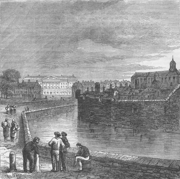 Associate Product THE TOWER OF LONDON. The Tower moat, c1820 c1880 old antique print picture