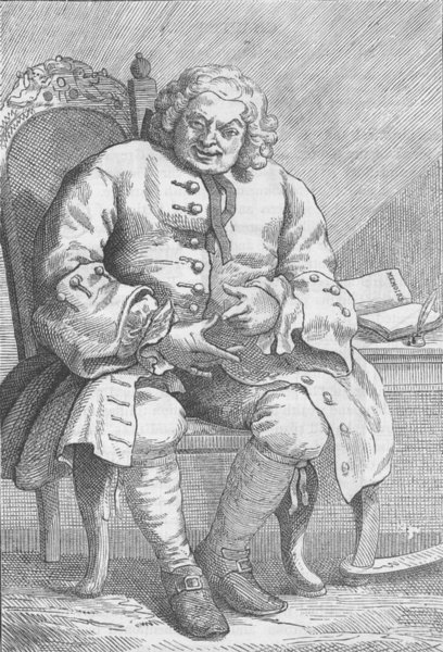 Associate Product LONDON. Lord Lovat (from Hogarth's portrait) c1880 old antique print picture