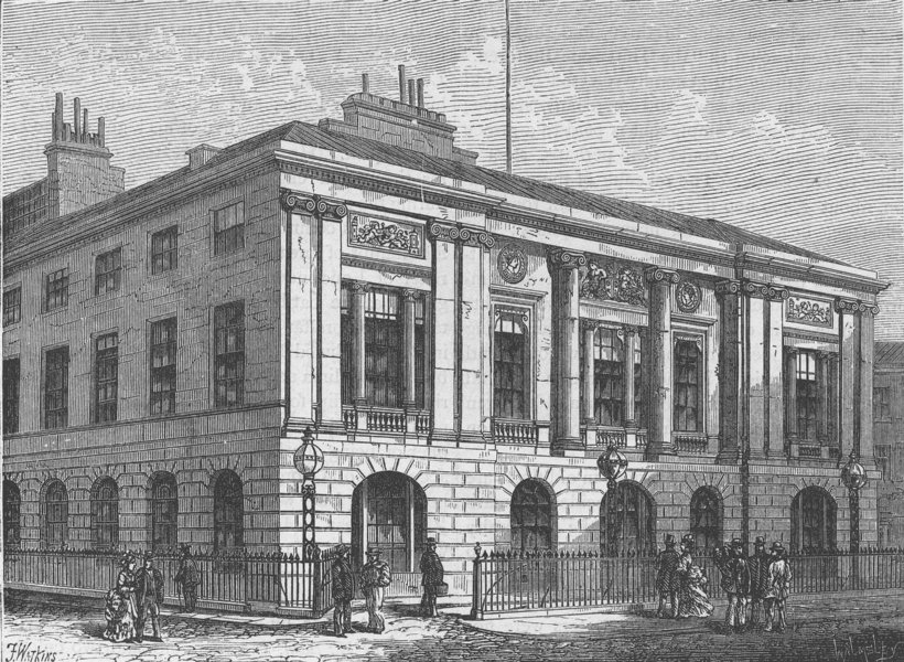 THE ROYAL MINT. The trinity House. London c1880 old antique print picture