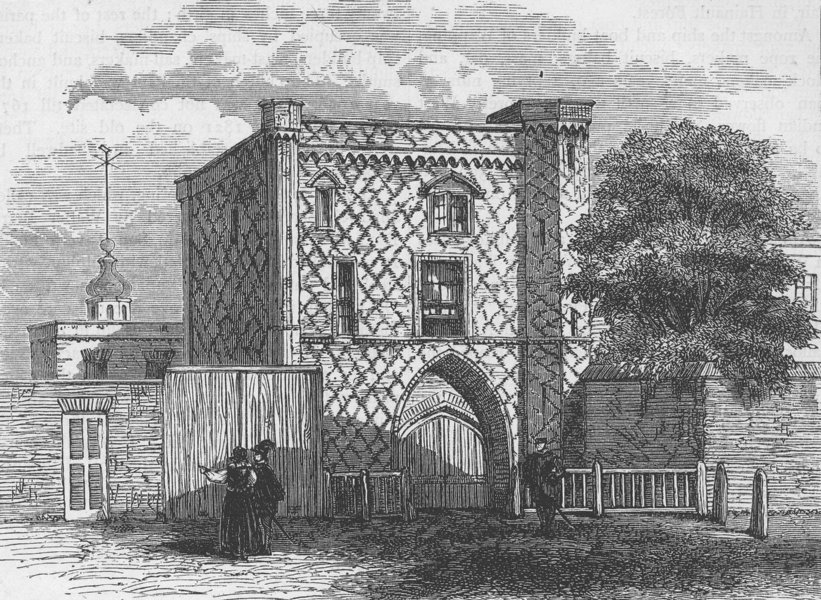 Associate Product STEPNEY. Old gateway at Stepney (from a view published by N. Smith, 1791) c1880