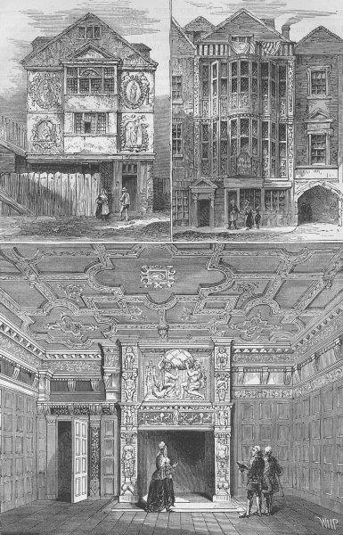 Associate Product SIR PAUL PINDAR. Lodge in 1791. Room in his house 1810.. London c1880 print