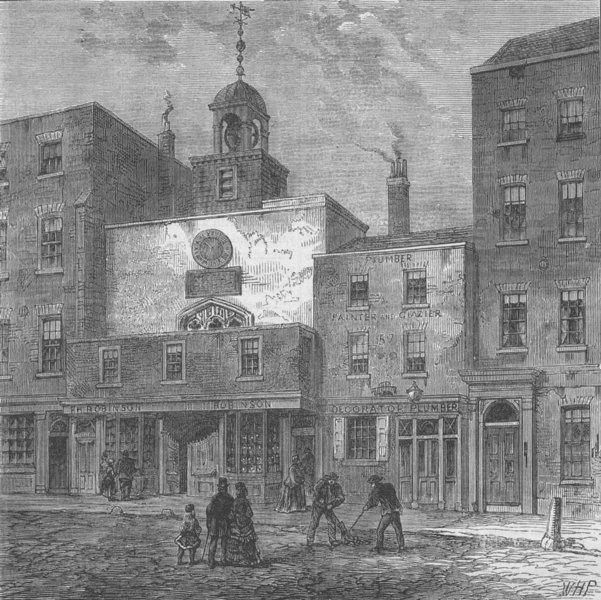 Associate Product BISHOPSGATE. St.Ethelburga's church (1870). London c1880 old antique print