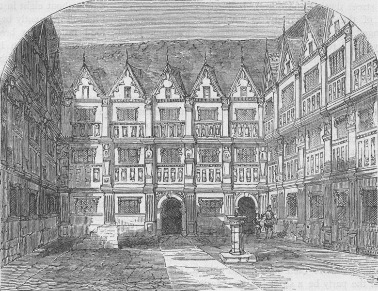 Associate Product BISHOPSGATE. Sir Thomas Gresham's House in Bishopsgate Street. London c1880