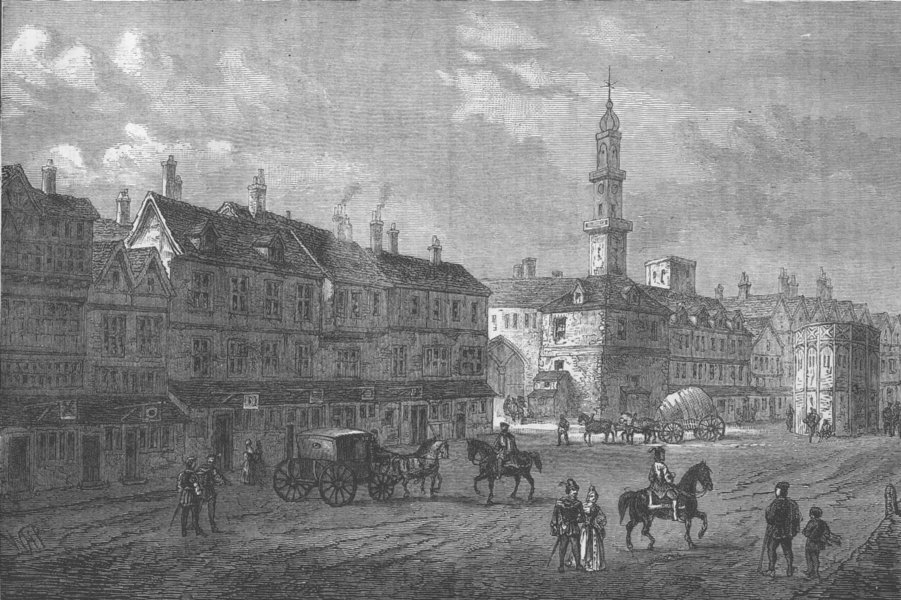 Associate Product BISHOPSGATE. Cornhill in 1630 (after Boydell). London c1880 old antique print