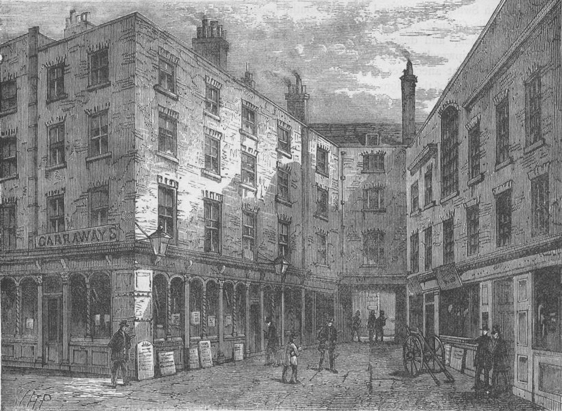 Associate Product CITY OF LONDON. Garraway's coffee-House, shortly before its demolition c1880