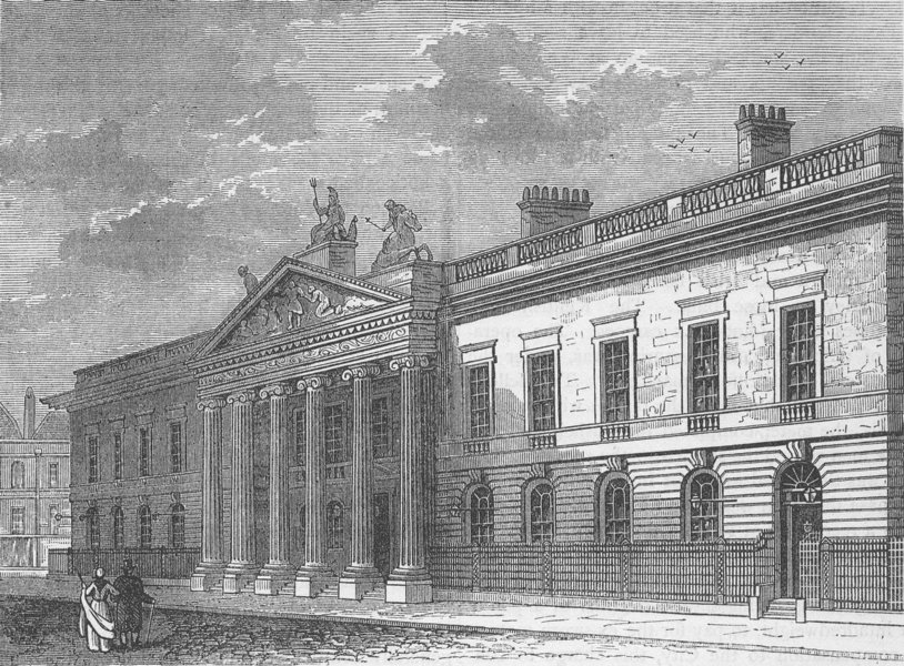 Associate Product LEADENHALL STREET. The Old India Office in 1803. London c1880 print