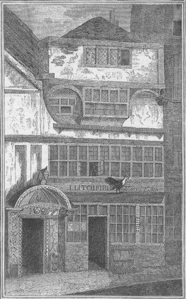 Associate Product LEADENHALL STREET. Old House, formerly in Leadenhall Street. London c1880