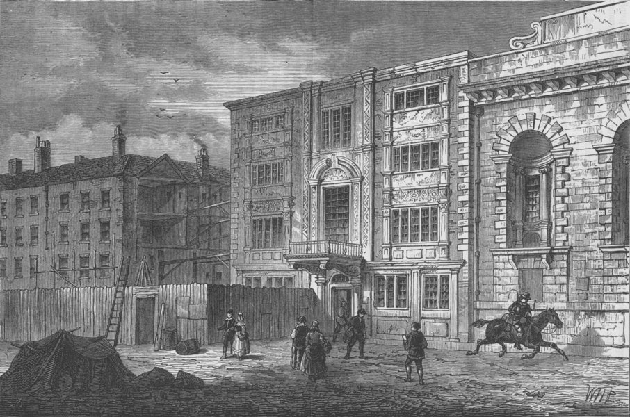 Associate Product CITY OF LONDON. The old Post Office in Lombard Street, about 1800 c1880 print