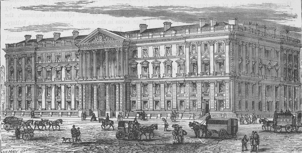 Associate Product CITY OF LONDON. New General Post Office, St.Martin's-le-Grand c1880 old print