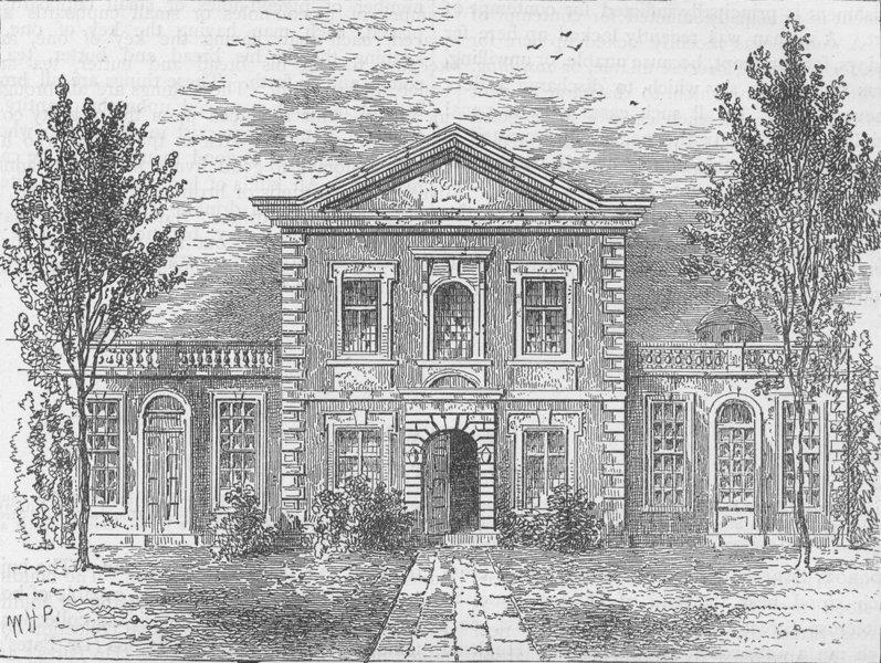Associate Product CRIPPLEGATE. Barber-Surgeons' Hall (1800). London c1880 old antique print