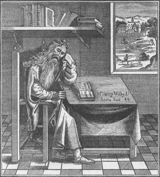 Associate Product CRIPPLEGATE. The Grub Street hermit (Richardson, 1794). London c1880 old print