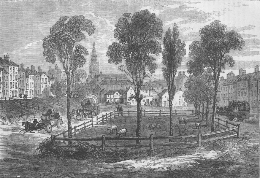 Associate Product ISLINGTON. Islington in 1780. London c1880 old antique vintage print picture