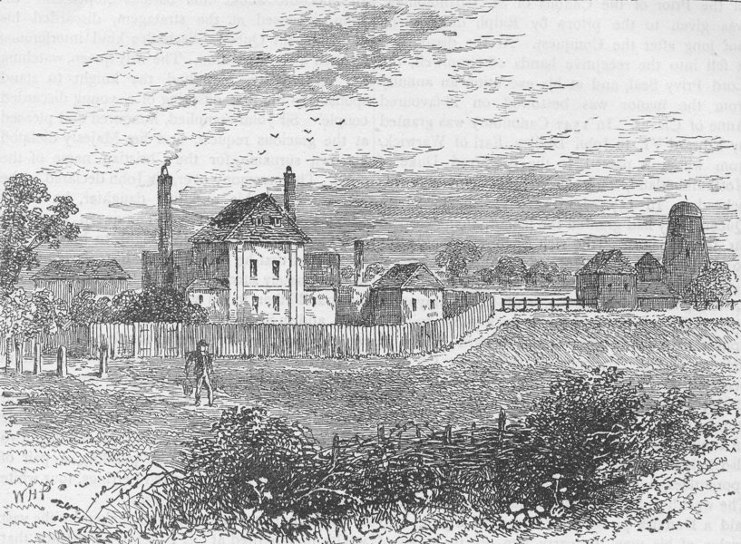 Associate Product CANONBURY. The new river head, in 1753. London c1880 old antique print picture