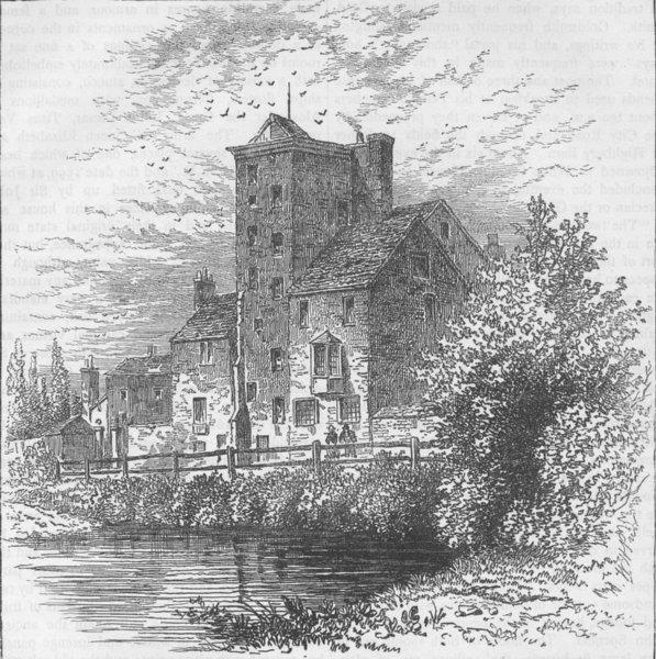 Associate Product CANONBURY. Canonbury Tower, about 1800. London c1880 old antique print picture
