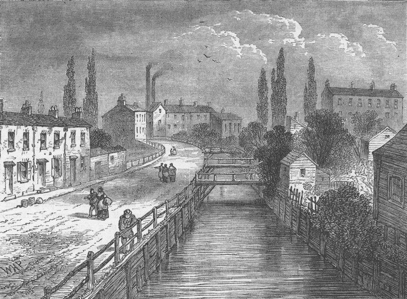 Associate Product PENTONVILLE. Battle Bridge in 1810. London c1880 old antique print picture