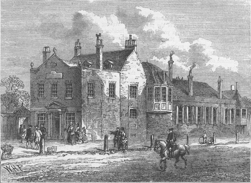 Associate Product SADLER'S WELLS. The exterior of Bagnigge Wells in 1780. London c1880 old print