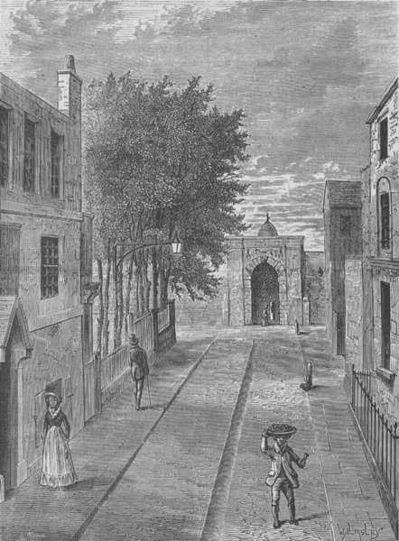 Associate Product CLERKENWELL. The old House of detention. London c1880 antique print