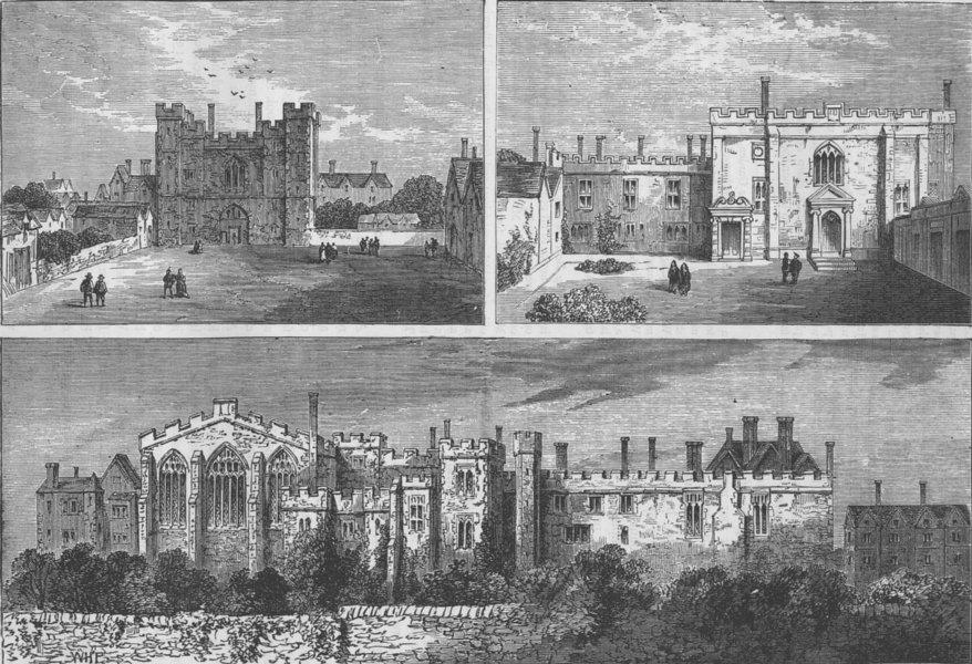 Associate Product CLERKENWELL. The monastery of St.John of Jerusalem. London c1880 old print