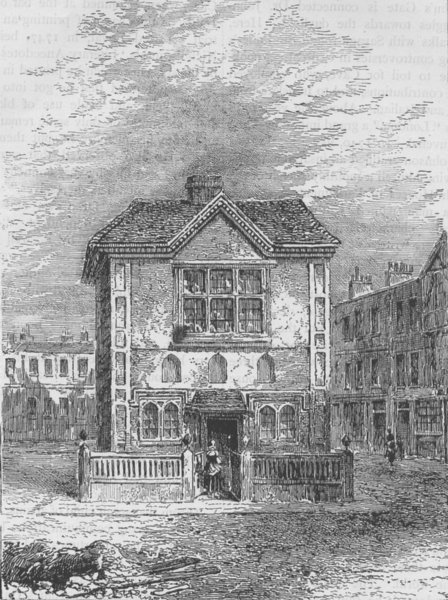 Associate Product CLERKENWELL. Hicks's Hall (about 1750). London c1880 old antique print picture