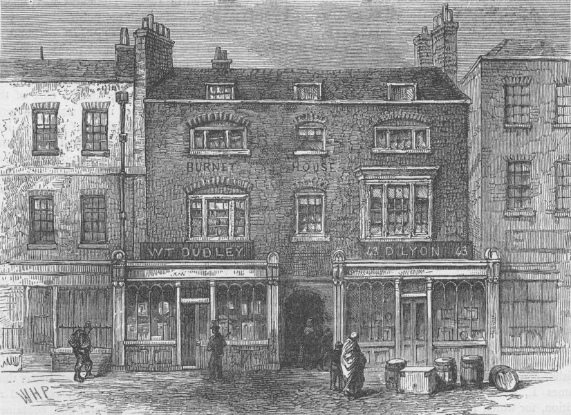 Associate Product CLERKENWELL. Burnet House (1866). London c1880 old antique print picture