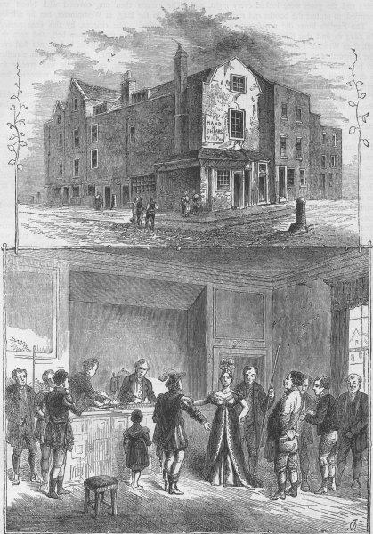 "Associate Product SMITHFIELD. The ""Hand & Shears"" Inn. A Pie Powder/Poudre court, 1811 c1880"