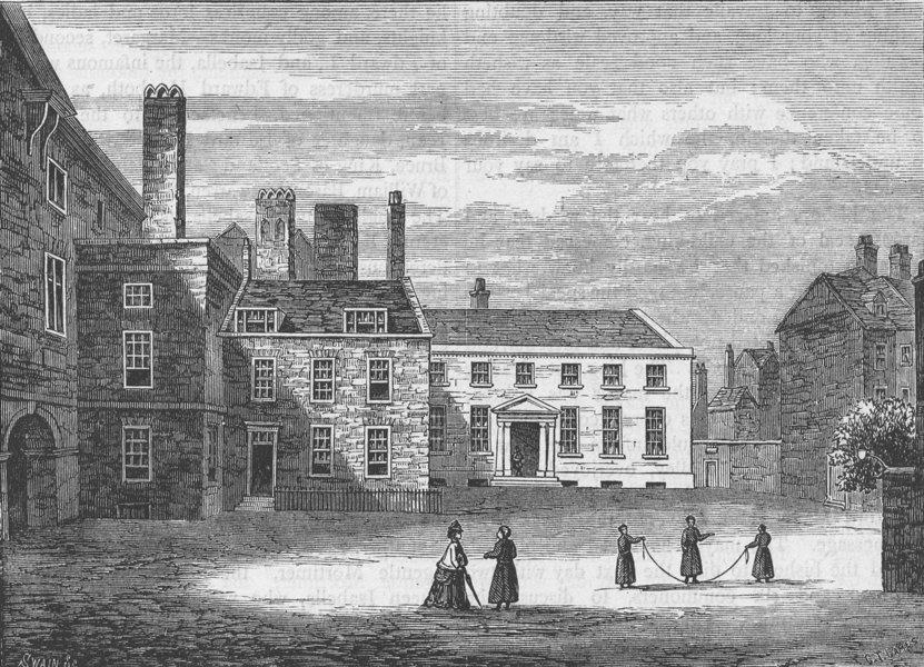 Associate Product CHRIST'S HOSPITAL. The Western quadrangle of the old Hospital, c1780 c1880