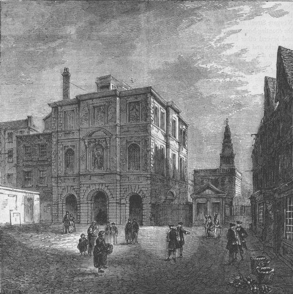 Associate Product CHRIST'S HOSPITAL. The Mathematical School. (N. Smith 1793). London c1880