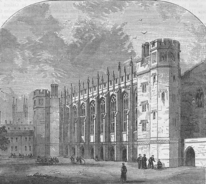 Associate Product CHRIST'S HOSPITAL. The Hall of Christ's Hospital. London c1880 old print
