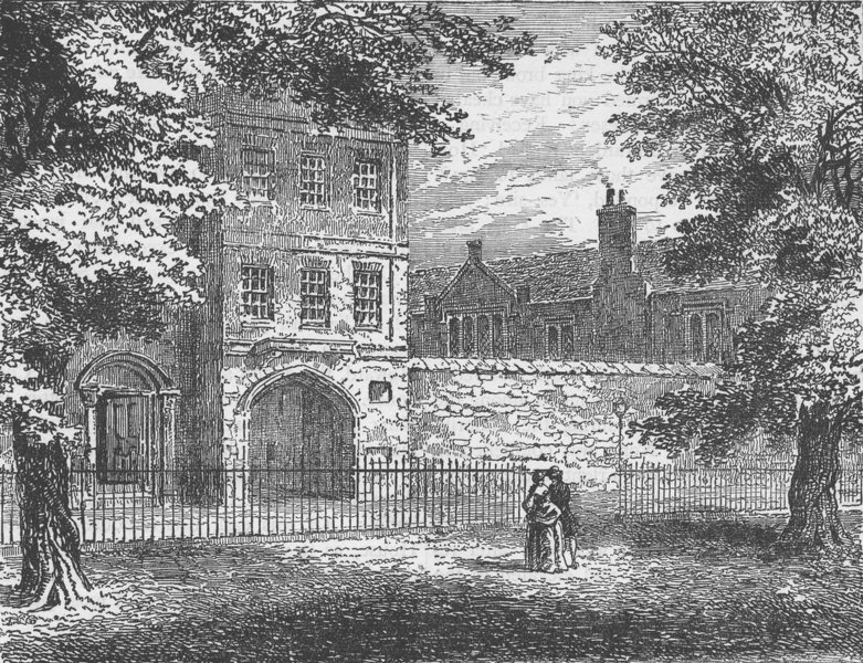 Associate Product THE CHARTERHOUSE. The Charterhouse, from the Square (Grey 1804). London c1880