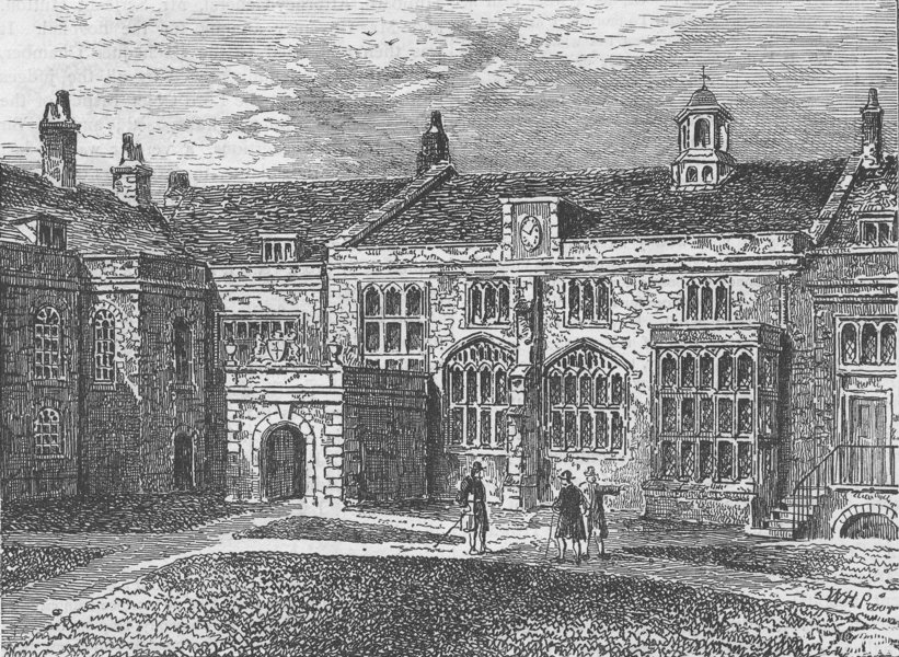Associate Product THE CHARTERHOUSE. The exterior of the Hall, Charterhouse. London c1880 print