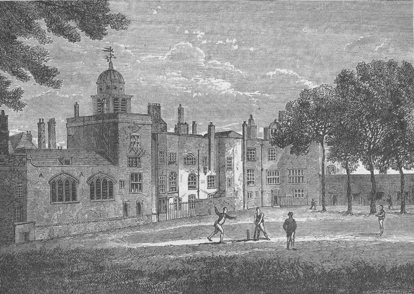 Associate Product THE CHARTERHOUSE. Charterhouse-The Quadrangle in 1805 c1880 old antique print