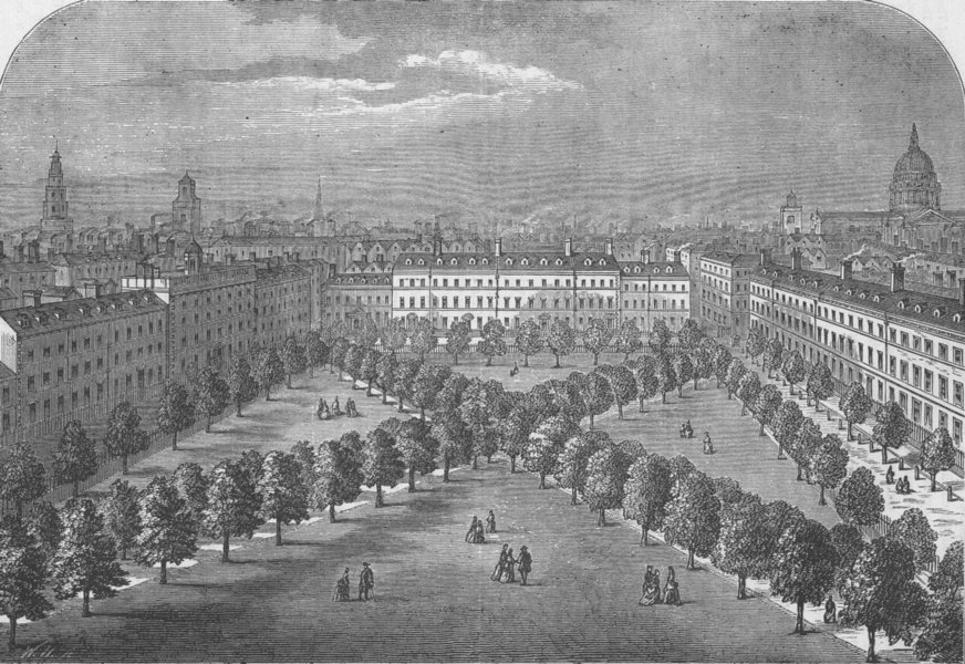 """Associate Product THE CHARTERHOUSE. Charterhouse Square (from Stow's """"Survey""""). London c1880"""