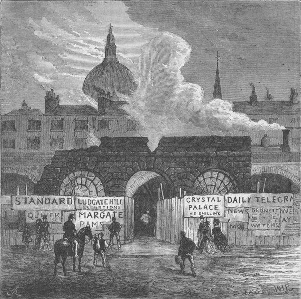 Associate Product THE FLEET PRISON. The last remains of the Fleet prison. London c1880 old print