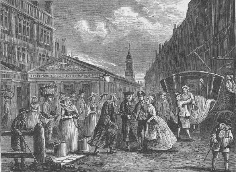 Associate Product THE FLEET PRISON. A wedding in the Fleet (18th century). London c1880 print