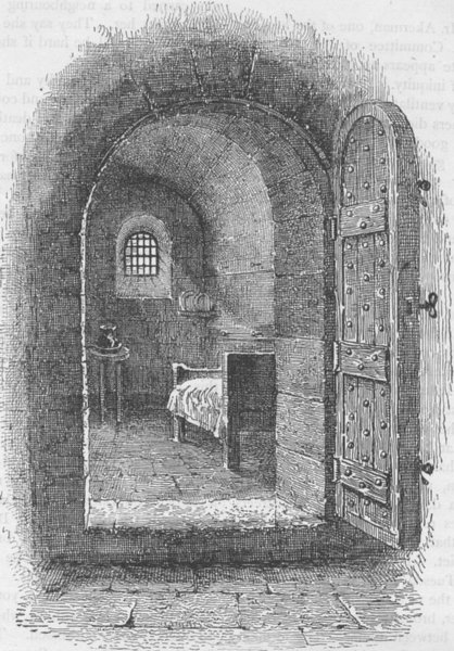 Associate Product NEWGATE PRISON. The condemned cell in Newgate. London c1880 old antique print