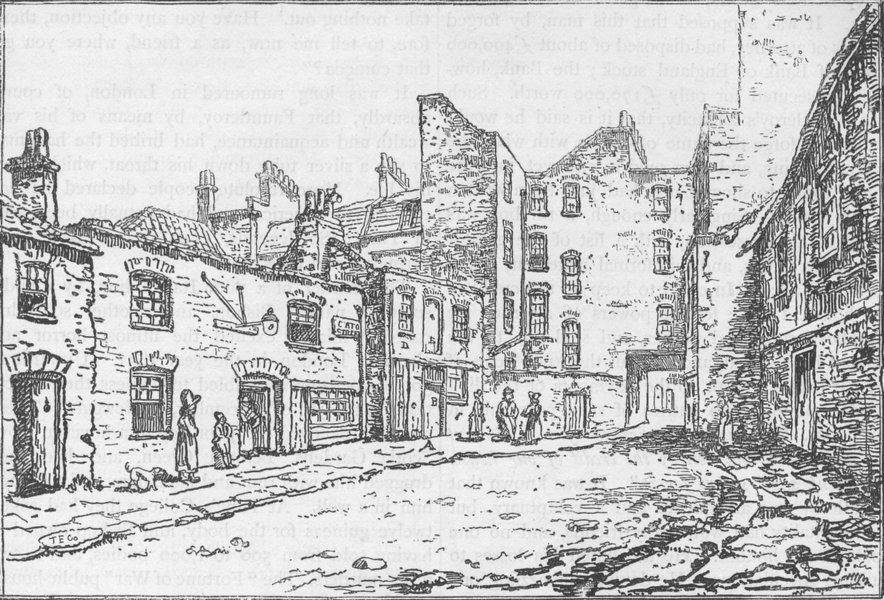 Associate Product marylebone. Cato Street in 1820. Conspiracy. London c1880 old antique print