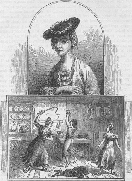 Associate Product NEWGATE. Elizabeth Brownrigg. Murderers. London c1880 old antique print