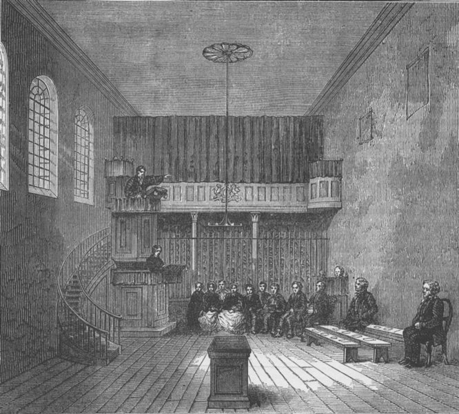 Associate Product THE OLD BAILEY. The chapel in Newgate. London c1880 antique print picture