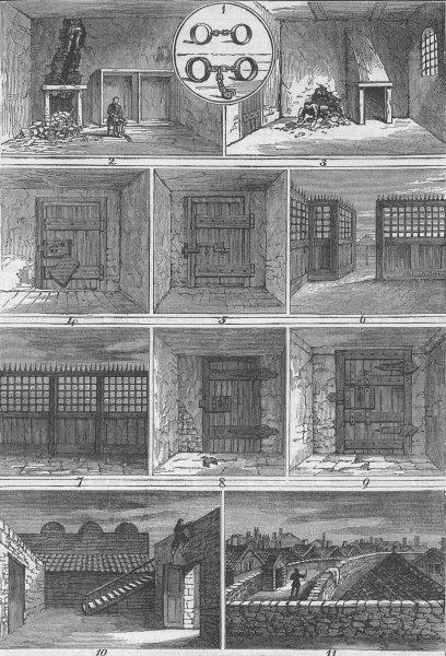 Associate Product THE OLD BAILEY. Jack Sheppard's escapes. London c1880 antique print