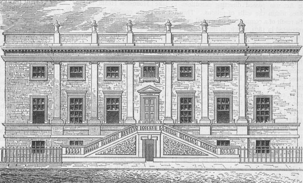 Associate Product THE OLD BAILEY. Surgeons' Hall, Old Bailey, 1800. London c1880 print