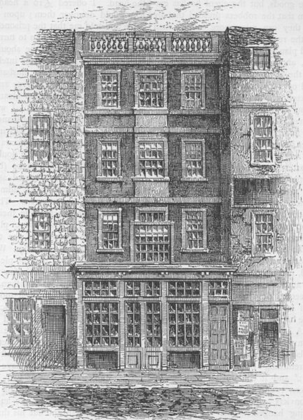 Associate Product THE OLD BAILEY. Jonathan Wild's House. London gangsters c1880 print