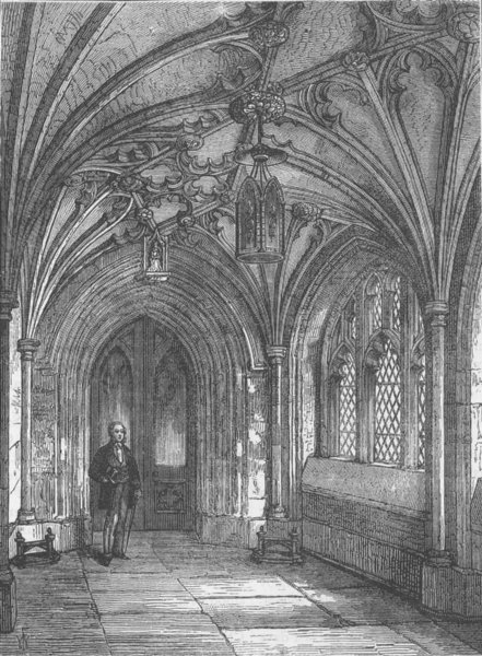 Associate Product CITY OF LONDON. Porch of St.Sepulchre-without-Newgate church c1880 old print